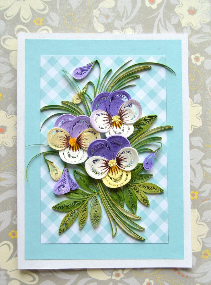 Как собрать открытку цветы