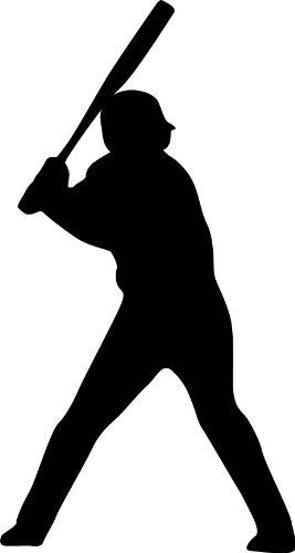Sports Silhouette Wall Decals - Baseball Player Batting Stance Righty Silhouette - 12 inch Removable Graphic by WallMonkeys, http://www.amazon.com/dp/B004D5HYX4/ref=cm_sw_r_pi_dp_npMtqb1C8256Z