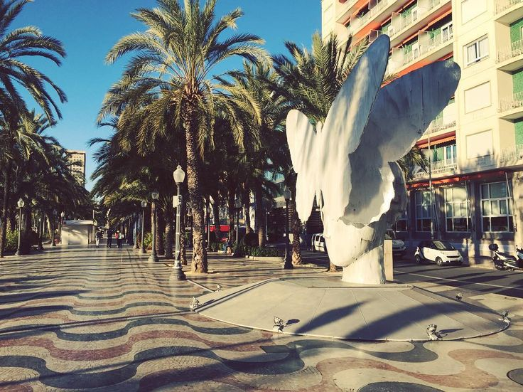 Si das un paseo por la Explanada de España podrás disfrutar de la escultura 'La Mariposa', del artista valenciano Manolo Valdés. Tras su paso por #París y #València llega a #Alicante hasta el 23 de marzo de 2018, de la mano de la Fundación 'Hortensia Herrero' y el Ayuntamiento 😍 ¡Merece una visita 😊! #MifotoAlicante #AlicanteCity #Alicante #CostaBlanca