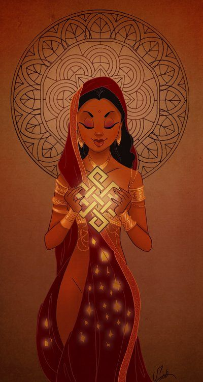 Ushas Goddess by *VPdessin Ushas, the Vedic goddess of Dawn, is one of the…