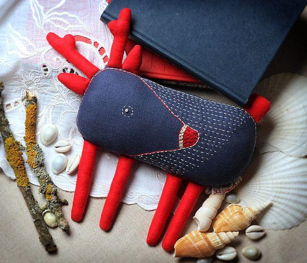 Deer toy, Designer hand-embroidered toy - slastidolls - Maskotki i pluszaki