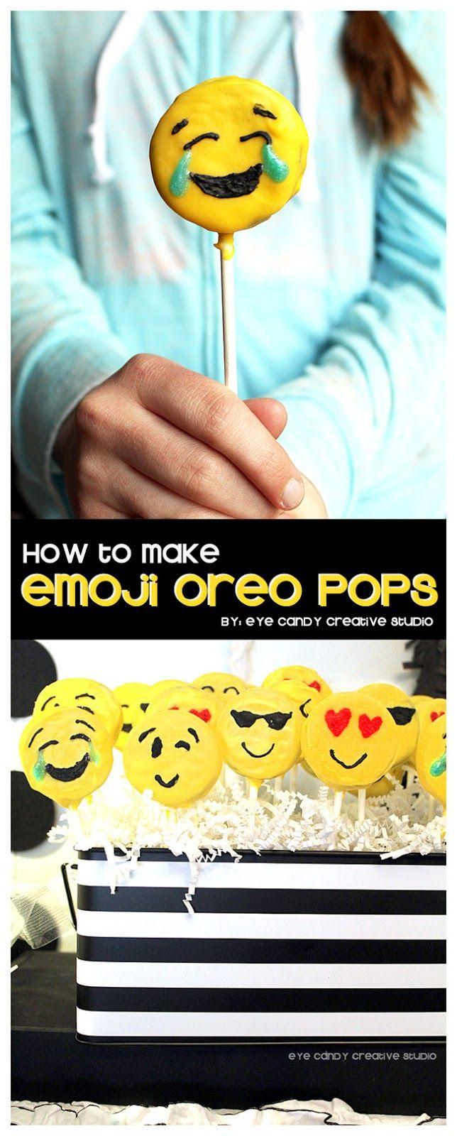 how to make emoji Oreo pops @eyecandycreate #oreopops #emojipops #emojiparty