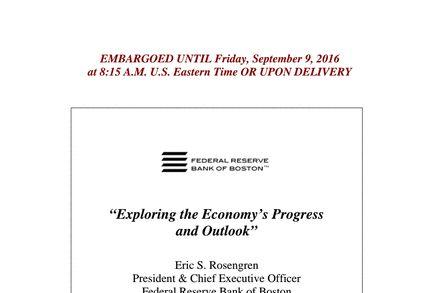 Speech by Eric Rosengren of Federal Reserve Bank of Boston