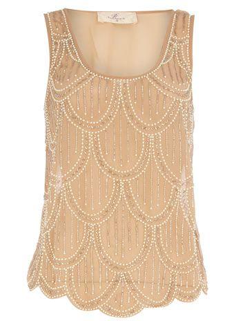 beaded vest top | reg $69 , sale $35+20% off = $28