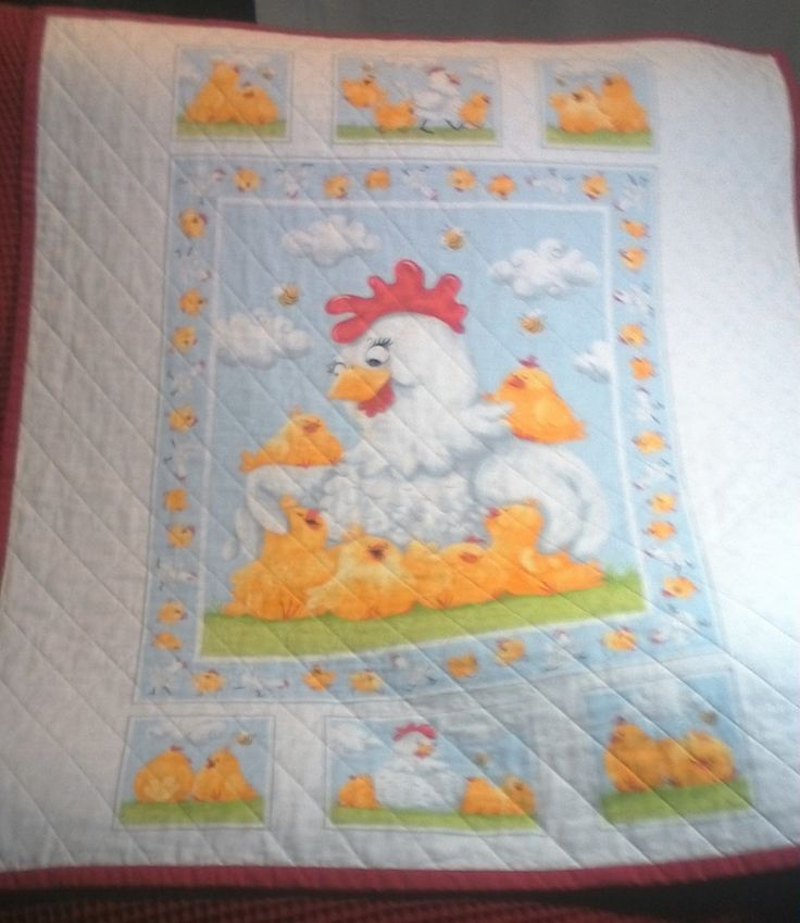 Babies Quilt, BQ009. Pippa and her chicks by Susybee. Handmade. by…