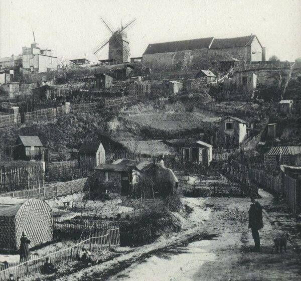 Монмартр. Париж. 1890 г. | Старые фотографии, Старый париж ...