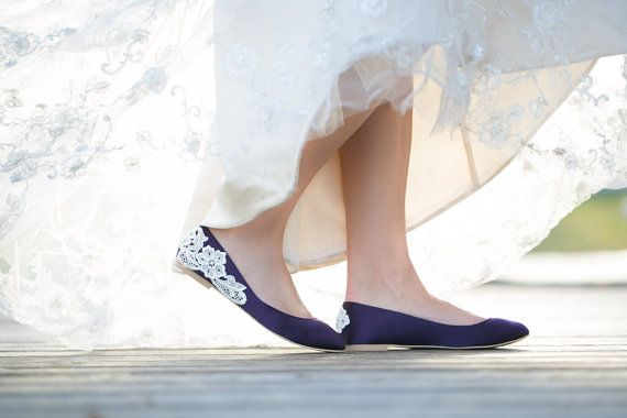 Purple Flats Purple Wedding Shoes/Purple Wedding by walkinonair