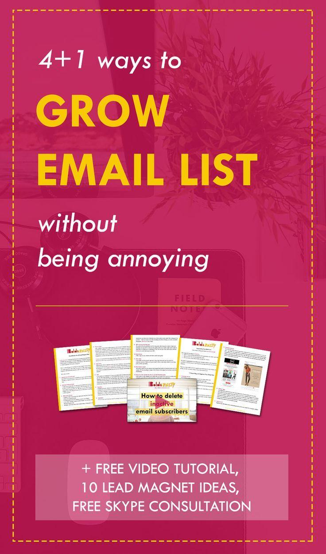 Whaaat? 5 killer strategies for growing email list + amazing (free) bonuses…