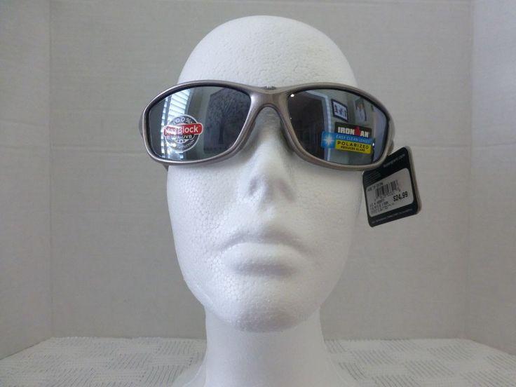 IronMan By Foster Grant Sunglasses Polarized 100%UVA/UVB Perseverance Gray Tips #Ironman #Rectangular