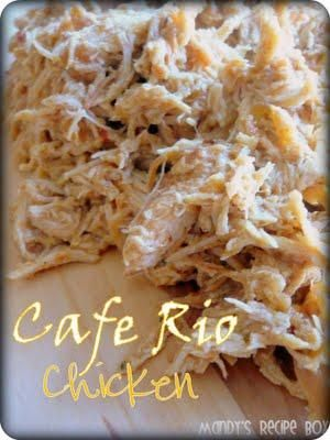 Cafe Rio Chicken in crock pot. Is it possible?: Make Ahead, Cafe Rio Chicken, Recipes Boxes, Recipe Box, Crock Pots Chicken, Mandy Recipes, Cafe K-Cup, Favorite Recipes, Chicken Breast