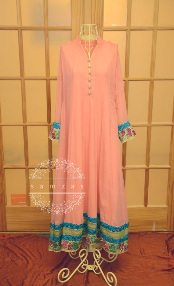 Pink Threads and Motifs Embroidered Chiffon Outfit by faizapervaiz, $220.00