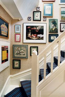pictures up the stairs