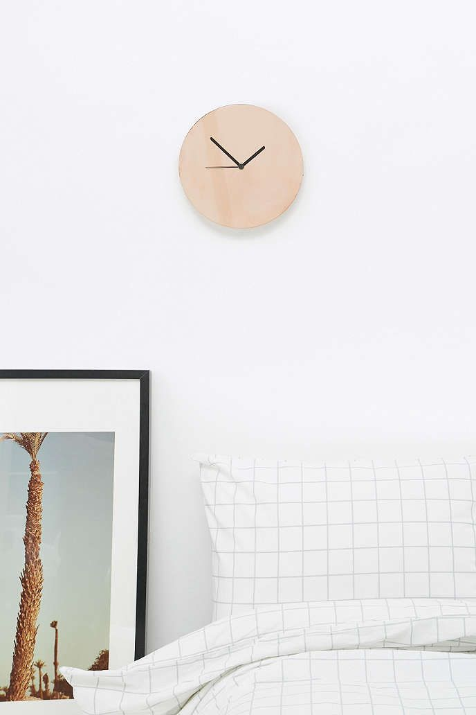 Copper Clock - Urban Outfitters