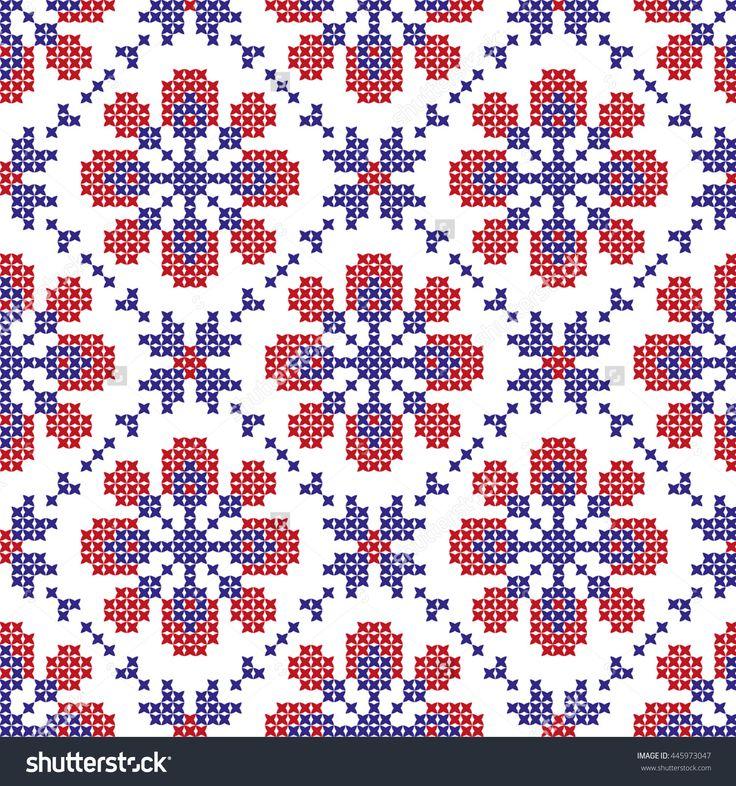 Embroidered Pattern On Transparent Background Stock Vector Illustratie 445973047 : Shutterstock