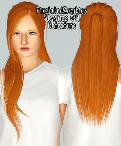 Middle Parth Bangs Hairstyle Skysims 041 Retextured By Pixelated Zombies For Sims 3 Sims Hairs