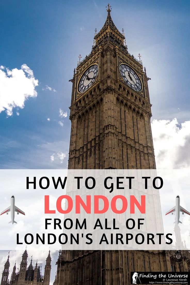 How to get to central London from the airport, with advice for getting to London from Heathrow Airport, Gatwick Airport, Stansted Airport, Luton Airport, London City Airport and Southend Airport.