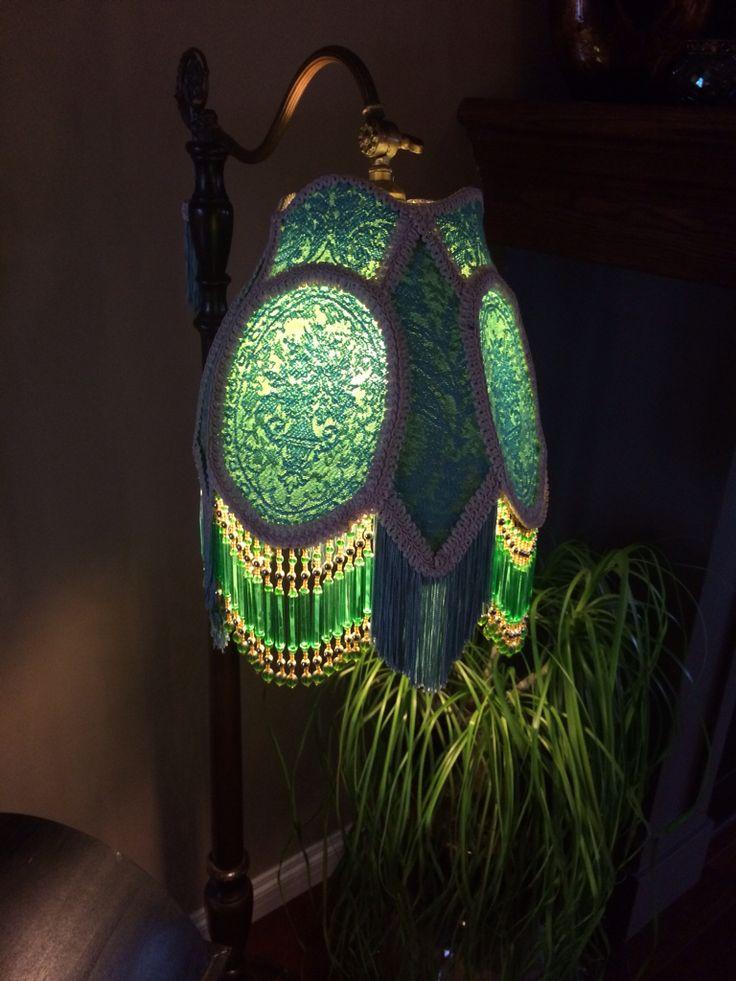 Vintage fabric. Glass beads. Lisa's shade