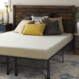 crown comfort 6 inch full size bed frame and memory foam mattress set - Bed Frame And Mattress Set