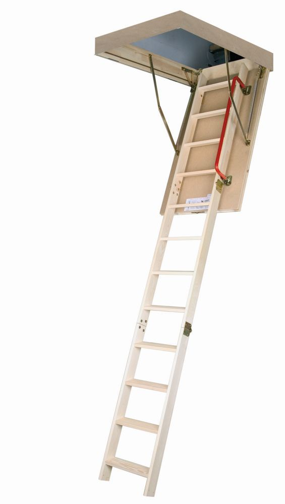 8 Ft 11 Inch 22 5 Inch X 47 Inch Insulated Wood Attic Ladder With 300 Lb Capacity Type Ia Rating Attic Ladder Attic Flooring Attic Rooms