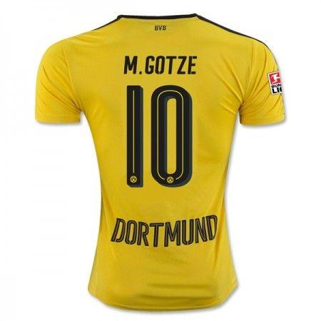 Billige Fotballdrakter BVB Borussia Dortmund 2016-17 Gotze 10 Hjemme Draktsett Kortermet