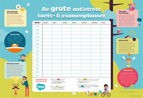 De grote antistress toets- en examenplanner – Klasse voor Ouders