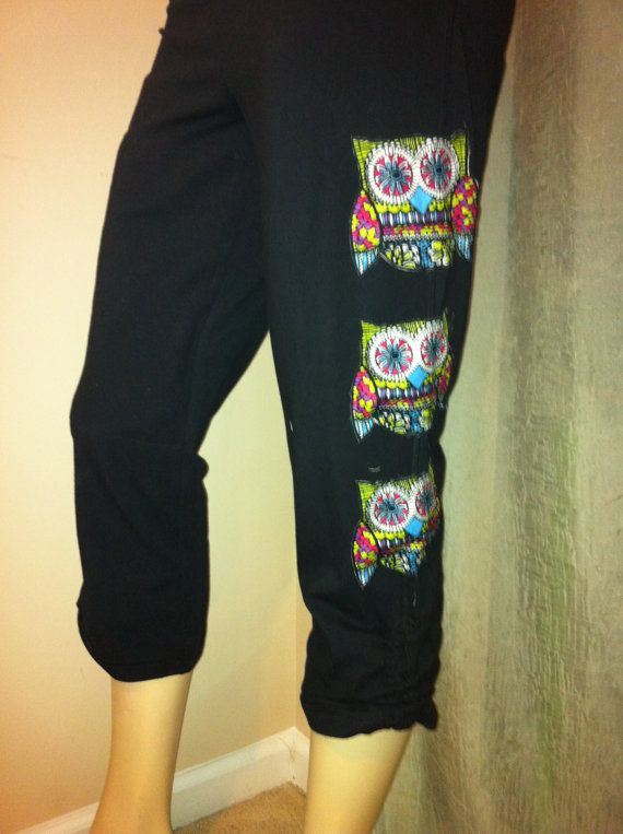 Hey, I found this really awesome Etsy listing at https://www.etsy.com/listing/174753486/womens-plus-size-bohemian-owl-yoga-capri