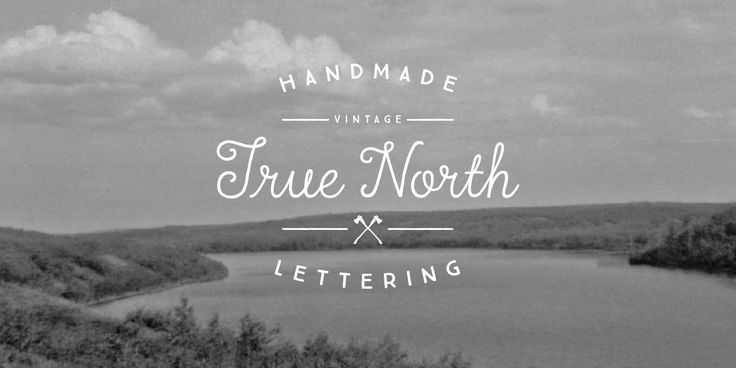 True North is a vintage inspired typeface with 16 styles and a monoline script. True North comes with labels, extras and free banners.