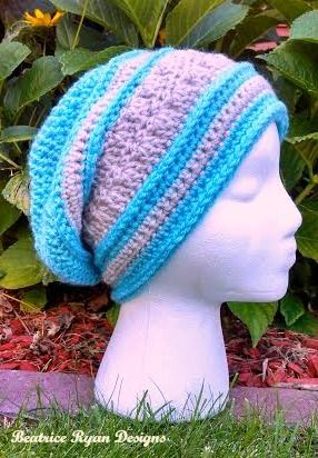 Amazing Grace Slouchy Hat - Part of a special series dedicated to raising awareness for breast cancer, this crochet hat pattern would make a great gift or donation.