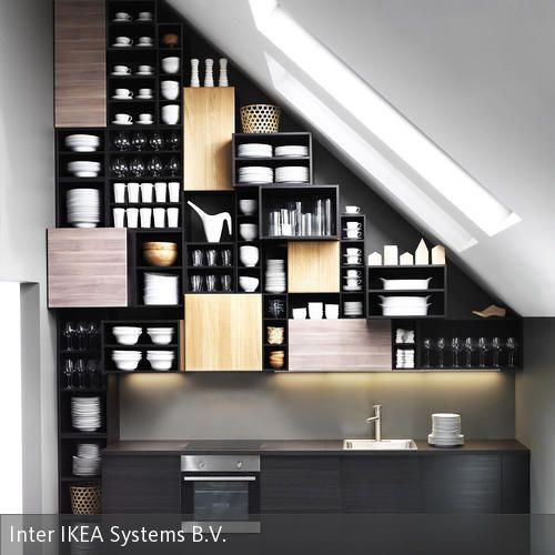 90 besten leben unterm dach wohnen mit dachschr gen bilder auf pinterest dachgeschosse. Black Bedroom Furniture Sets. Home Design Ideas