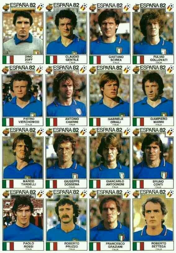 Italy stickers for 1982.