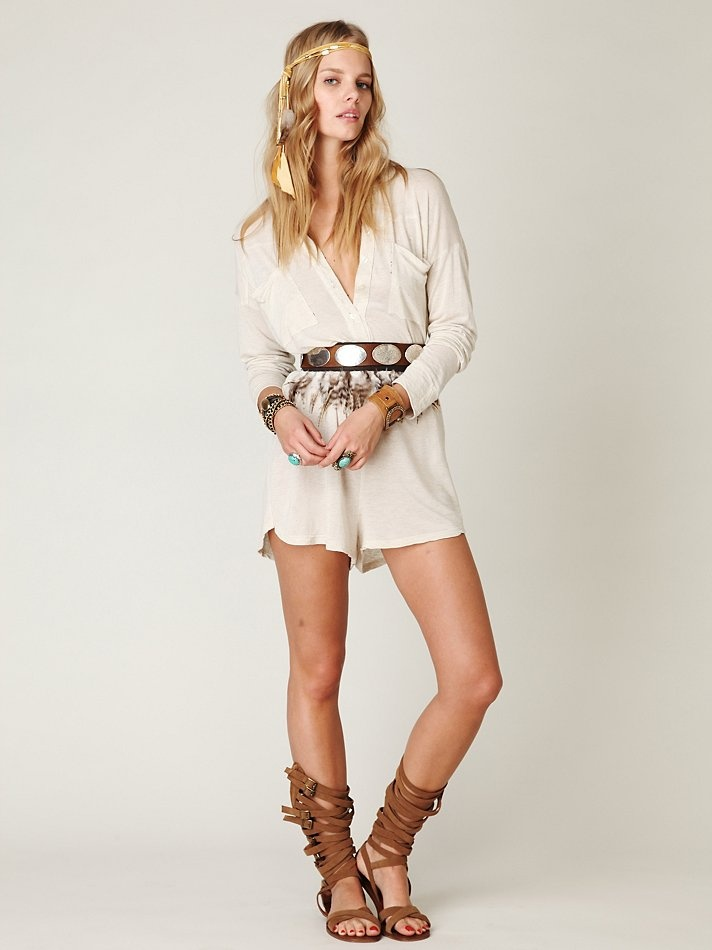 Summer.: Rompers Stomper, Endless Summer, Gladiators Shoes, Bohemian Summer, Summer Style, People Rompers, Bohemian Look, Brown Boots, Summer Night