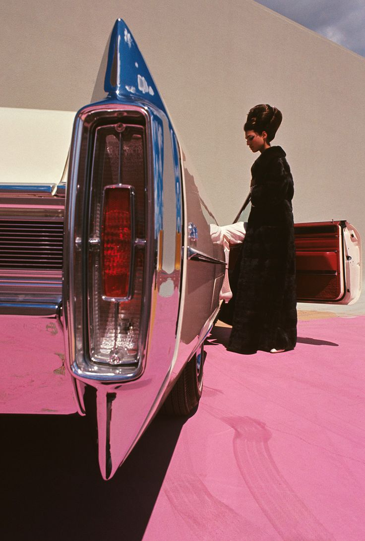 Pink Cadillac by Gene Laurents, Vogue 1964
