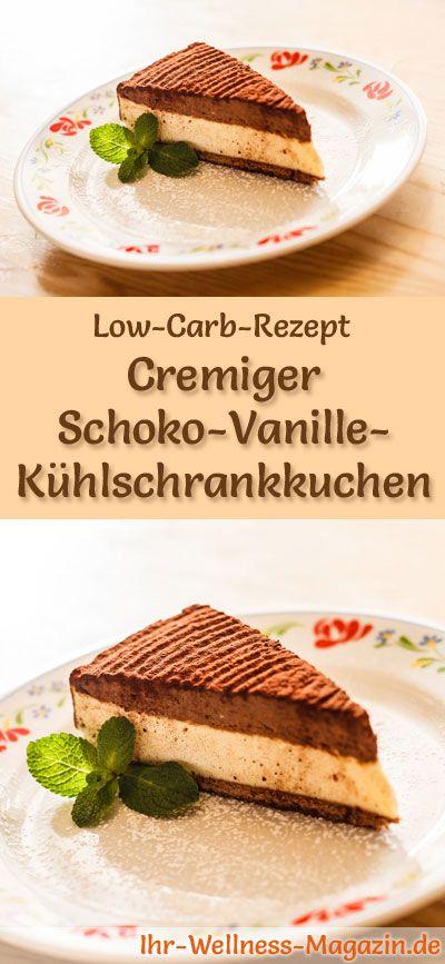 Cremiger Low Carb Schoko Vanille Kuhlschrankkuchen Rezept Ohne