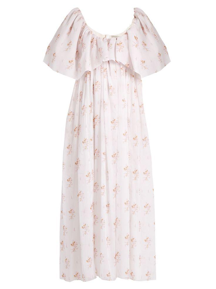 Fede floral-print empire-waist cotton dress | Emilia Wickstead | MATCHESFASHION.COM UK