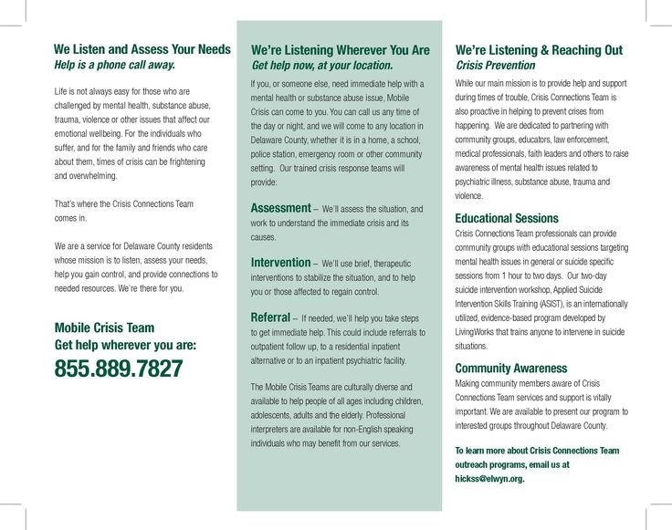 Delaware county crisis connections team brochure page 2