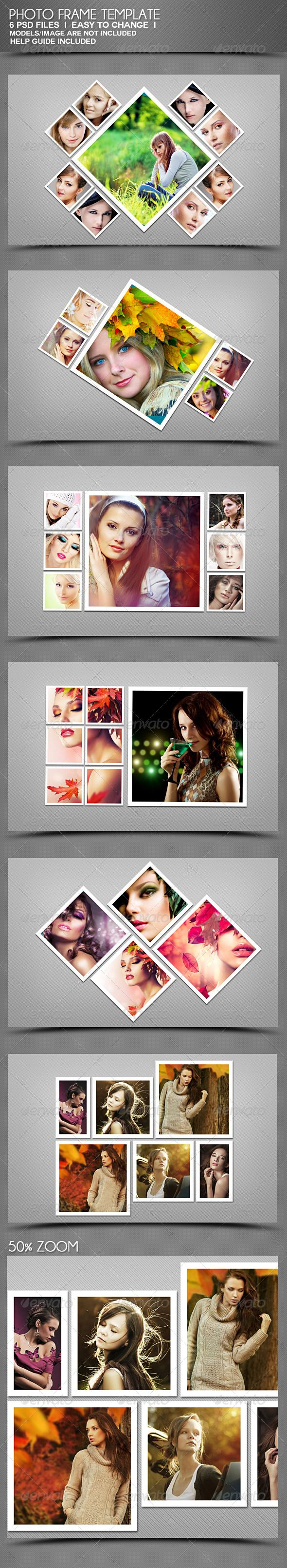 Photo Frame  -  PSD Template • Download ➝ https://graphicriver.net/item/photo-frame-templates/4058516?ref=pxcr