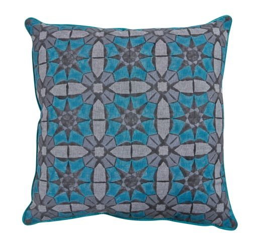 This Marrakesh Glass cushion measures 60cm x 60cm and includes insert.  Available from www.bohemianliving.com.au