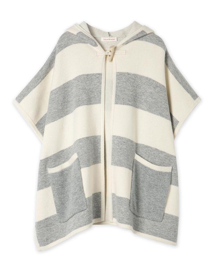Stripe Knit Cape