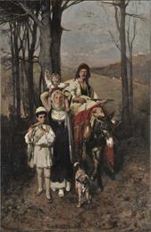 Lytras Nikephoros (1832 - 1904)     Return from the Fair, ca 1865-1872     Oil on canvas , 100 x 66 cm.     Ε. Koutlidis Foundation Collection , Inv. no: Κ.106