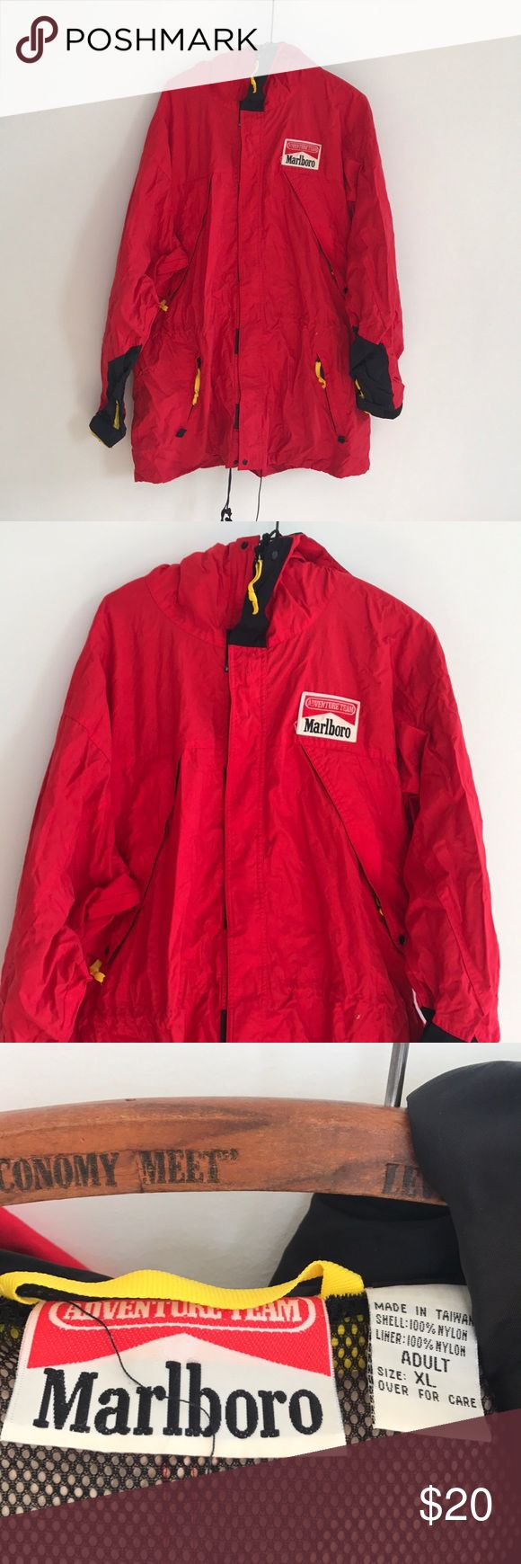 Marlboro rain jacket Vintage jacket in used condition marlboro Jackets & Coats Windbreakers