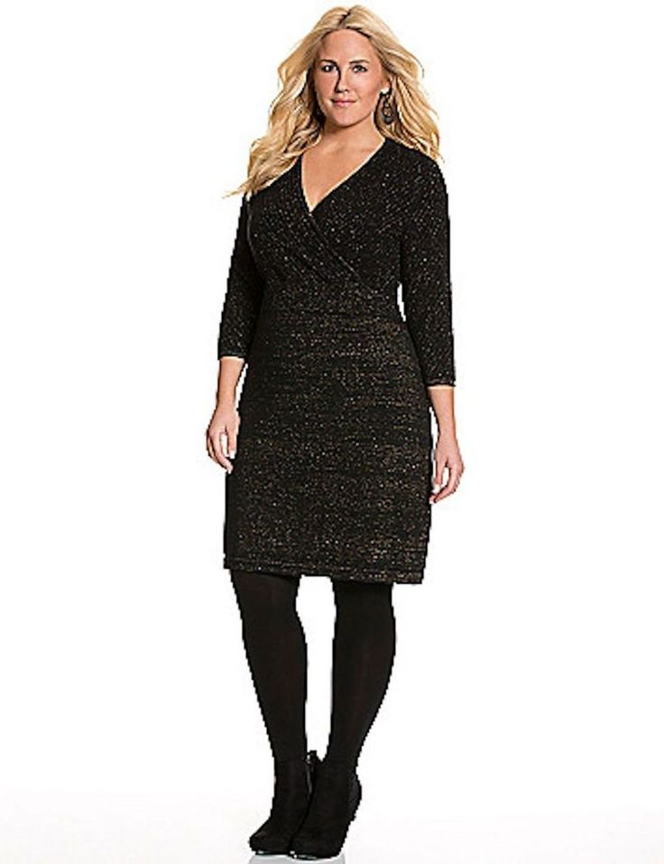Black sweater dress 2x