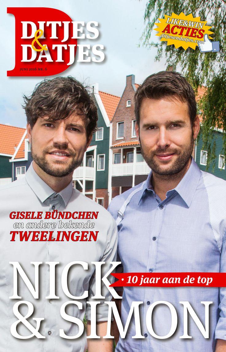 Cover Ditjes & Datjes 6, 2016 met Nick & Simon, 10 jaar aan de top. #DitjesDatjes #NickSimon #Nick #Simon #Volendam