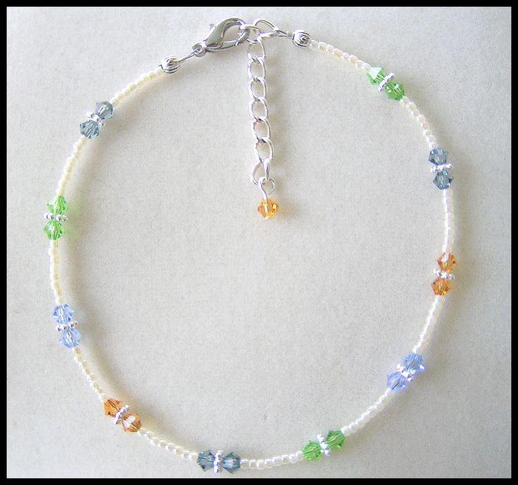 Pretty Pastel Wrist or Ankle Bracelet
