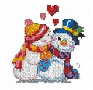 Схема Влюблённый снеговик