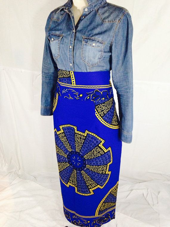 Handmade/The African Shop/Fashion/African Skirt/ by PFABdesigns