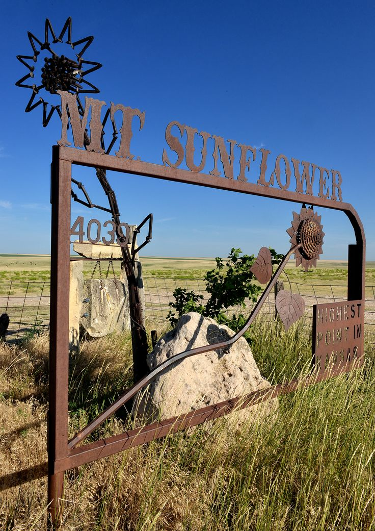 Mount Sunflower is privately owned, and the landowners welcome visitors.