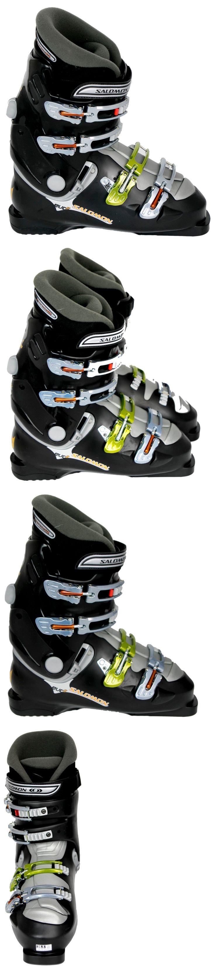 Men 16061: New $400 Mens Salomon Alpine Evo 2 Ski Boots Mondo Size 27.5 28.5 Usa 9.5 10.5 -> BUY IT NOW ONLY: $119 on eBay!
