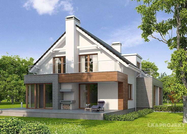 Projekty domów LK&Projekt LK&1016 wizualizacja 4