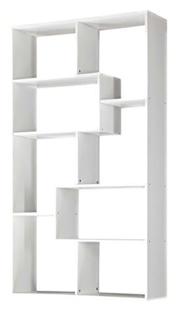Bookcase Bookshelf Storage 8-Shelf Wall Media Center Organizer White Furniture  #Mainstays #Modern