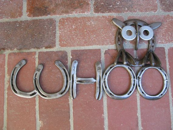 Whoo Owl Horseshoe Sign by willcapps on Etsy, $45.00